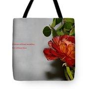 Greeting Of Love Tote Bag