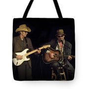 Greg Brown And Bo Ramsey In Concert Tote Bag