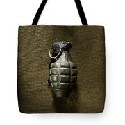 Grenade Tote Bag by Margie Hurwich