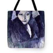Greta Garbo Tote Bag by Yuriy  Shevchuk