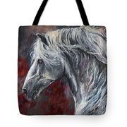Grey Andalusian Horse Oil Painting 2013 11 26 Tote Bag