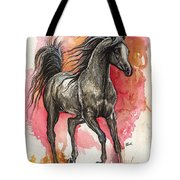 Grey Arabian Horse 2014 01 12 Tote Bag