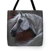 Grey Arabian Horse Soft Pastel Drawing 13 04 2013 Tote Bag