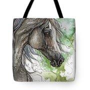 Grey Arabian Horse Watercolor Painting 1 Tote Bag
