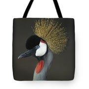 Grey Crowned Crane Portrait Tote Bag