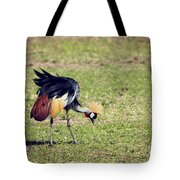 Grey Crowned Crane. The National Bird Of Uganda Tote Bag
