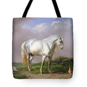 Grey Stallion Tote Bag