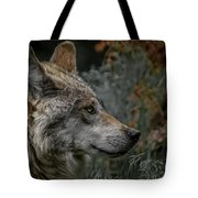Grey Wolf Profile 3 Tote Bag