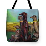 Greyhound Figurines Tote Bag