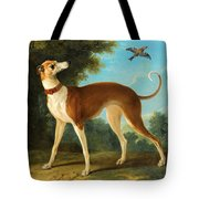 Greyhound In A Landscape Tote Bag