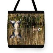 Greylag Goose Family Tote Bag
