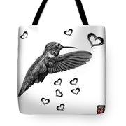 Greyscale Hummingbird - 2055 F S M Tote Bag