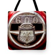 Grill Logo Detail - 1950s-vintage Ford 601 Workmaster Tractor Tote Bag