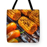 Grilling Corn And Peppers Tote Bag