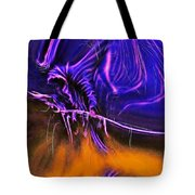 Grim Reaper In Abstract Tote Bag