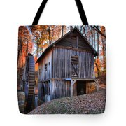 Grist Mill Under Fall Foliage Tote Bag