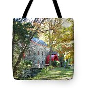 Grist Mill In Fall Tote Bag