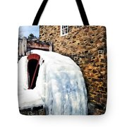 Grist Mill In Winter Tote Bag