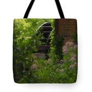 Grist Mill Wheel Vertical Tote Bag