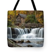 Grist Mill With Vibrant Fall Colors Tote Bag