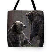 Grizzlies At Play Tote Bag