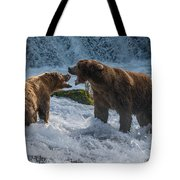 Grizzlies Fighting Tote Bag