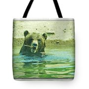 Grizzly Bath Tote Bag