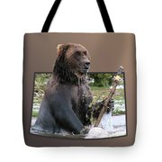 Grizzly Bear 6 Out Of Bounds Tote Bag