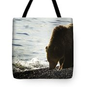 Grizzly Bear-signed-#4137 Tote Bag