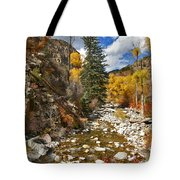 Grizzly Creek Cottonwoods Vertical Tote Bag