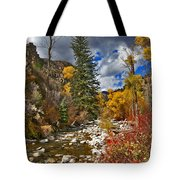 Grizzly Creek Vertical Tote Bag