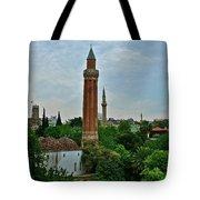 Grooved Minaret Fromthirteenth Century In Antalya-turkey Tote Bag