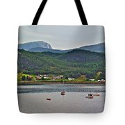 Gros Morne Mountain Over Bonne Bay At Norris Point In Gros Morne Np-nl Tote Bag