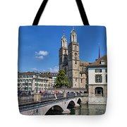 Grossmuenster Zurich Tote Bag