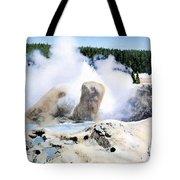 Grotto Geyser Yellowstone Np Tote Bag