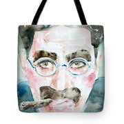 Groucho Marx Watercolor Portrait.1 Tote Bag