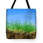 Ground And Grass Tote Bag