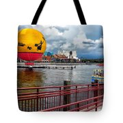 Grounded By The Storm Balloon Ride Walt Disney World Tote Bag