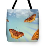 Group Of Butterflies And Sky Tote Bag
