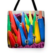 Group Of Colorful Clothespins Tote Bag