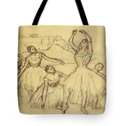 Group Of Dancers Tote Bag