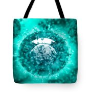Group Of H5n1 Virus With Glassy View Tote Bag