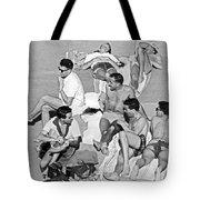 Group Of Men Sunbathing Tote Bag
