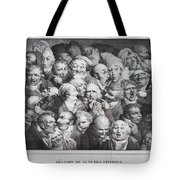 Group Of Thirty-five Heads Tote Bag