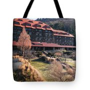 Grove Park Inn In Early Winter Tote Bag by Paulette B Wright
