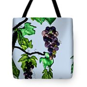 Growing Glass Grapes Tote Bag