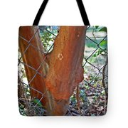 Growing Through The Fence Tote Bag