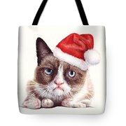 Grumpy Cat As Santa Tote Bag