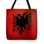 Grunge Albania Flag Tote Bag