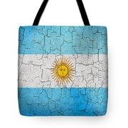 Grunge Argentina Flag Tote Bag